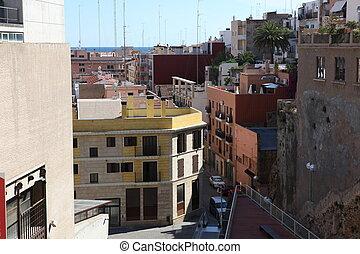 calle, Tarragona, españa