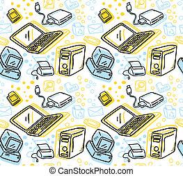 computer stuff seamless pattern