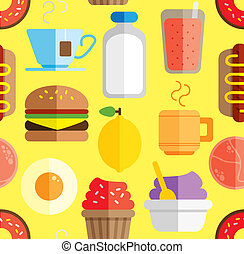 food and drink pattern background