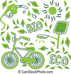 go green icon doodle