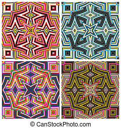 Art Design from Kenya - Modern seamless vector pattern in...