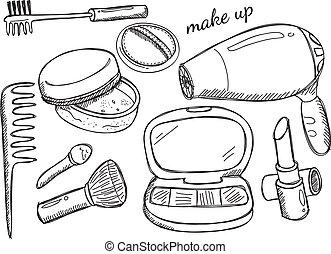 makeup doodle
