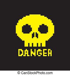 pixelated danger icon