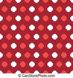 polkadot pixelated pattern