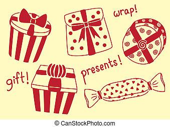 presents doodle