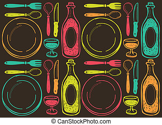 restaurant vintage background