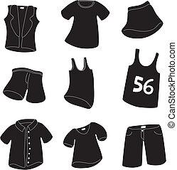 set of clothing icon