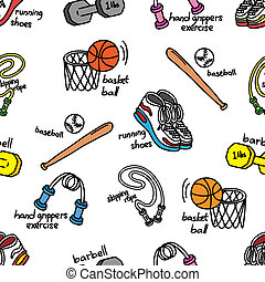 sport equipment background