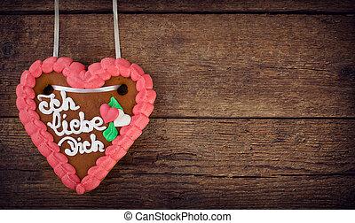 Lebkuchenherzen gingerbread Heart cookie - Lebkuchenherzen,...