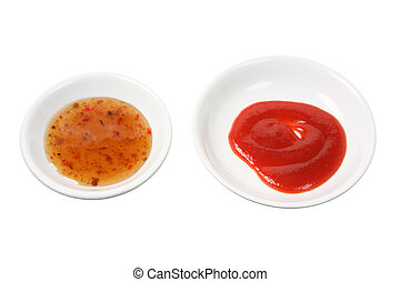 Chinese Sauce on White Background
