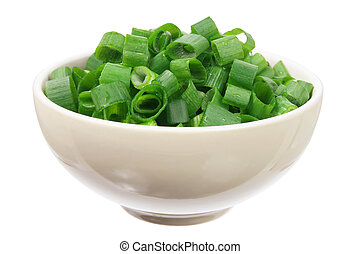 Chopped Spring Onion in Bowl