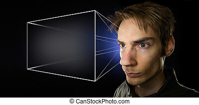 Holographic Universe - Image illustrating the holographic...