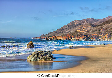Early Dusk at Garrapata State Park - Early Dusk on the Beach...