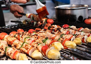 BBQ grill of meat  - Bar-B-Q or BBQ grill of meat