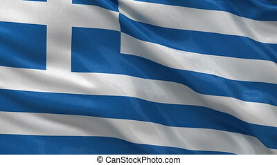 Flag of Greece seamless loop