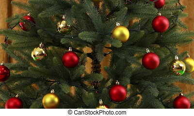 Christmas tree background - There are three shots in the...