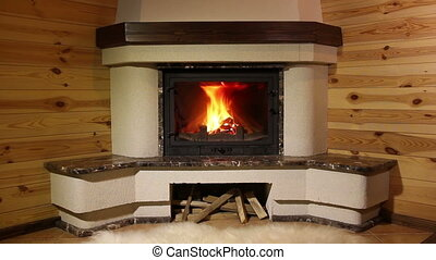 Fireplace. 3 shots - Three different foreshortening for one...