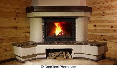 Fireplace. 3 shots