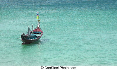 Fishing boat - Float in fishing boat with no one on board