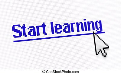 """Internet link title """"Start learning"""" screen photo with..."""