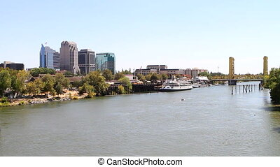 Sacramento City Skyline - Skyline view of Sacramento, the...