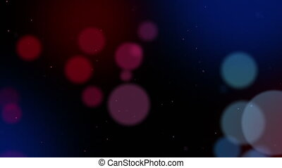 Defocused particles background Red and blue