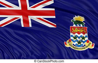 3D Cayman Islands Flag - 3D Cayman Islands flag with fabric...
