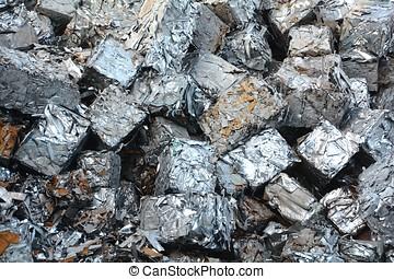 Scrap metal at a scrap yard