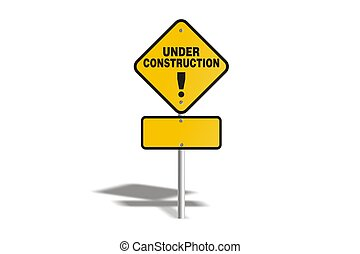 under construction with yellow sig - suitable for user...