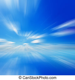 Blue sky motion blur background - Blue sky abstract...