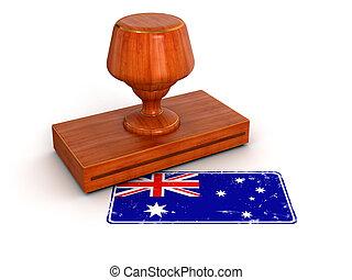 Rubber Stamp Australian flag