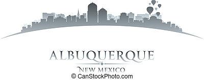 Albuquerque New Mexico city skyline silhouette. Vector...