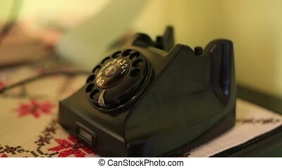 retro phone - using retro phone, calling rotary telephone
