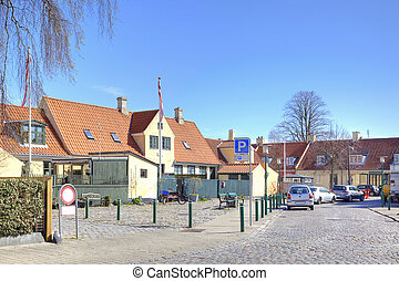 Fishing village with houses of the 16th century - The old...