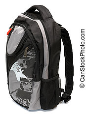 Modern and fashionable backpack on a white background