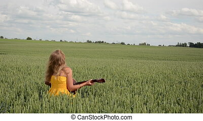 play guitar cereal field
