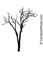 Tree silhouette - Tree with no leaves - silhouette