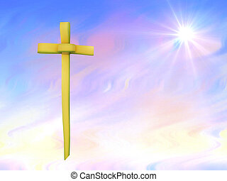 Palm Sunday or Easter background - Pretty colours