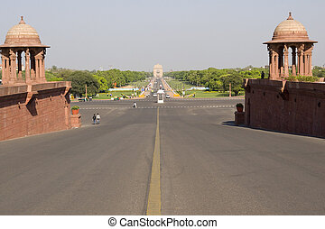 Raj Path - View down the Raj Path from the Indian Presidents...