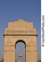 India Gate. Memorial to Indian and British soldiers who died...