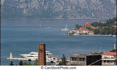 Suburb of Kotor, yacht