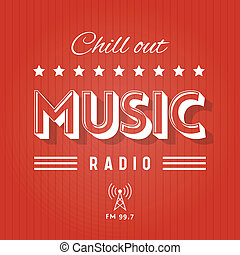 Retro Poster for Chill Out Music Radio
