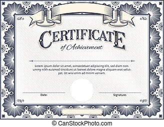 Certificate - Diploma or Certificate Vector Template with...