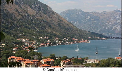 Panoramic view of Kotor, pan right