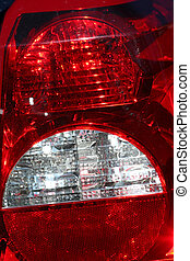 Tail lights - A red car tail light background