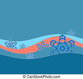 winter card a snow drift