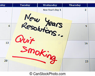 New Years Resolution quit smoking