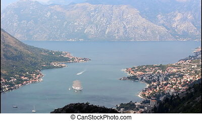 Kotor, view from mountain - Panoramic view of Kotor, view...