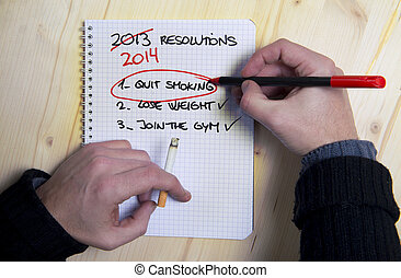 Last Years New Year Resolution list failed - Smoking man...