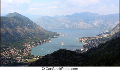 Panoramic view of Kotor, view from the top of the mountain,...